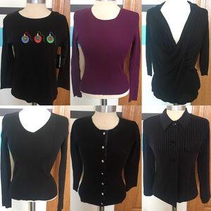 6 Sweater Shirts Cardigans Jacket Blazers Black S